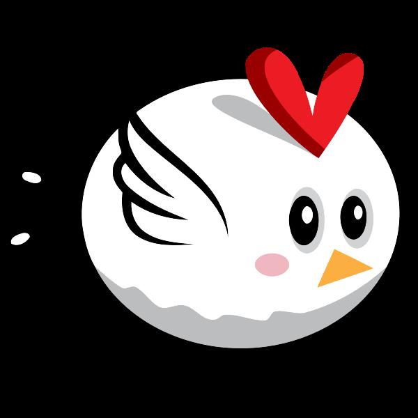 Cartoon image of white bird