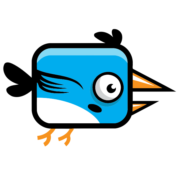 Blue bird icon