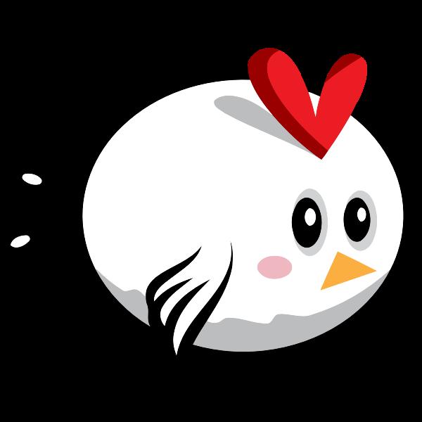 Cartoon vector image of white bird