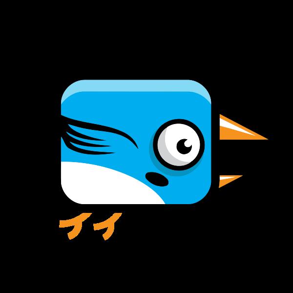Blue bird with big beak