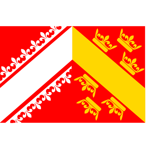 French Alsace region flag vector image