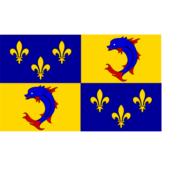 Dauphin of France region flag vector image