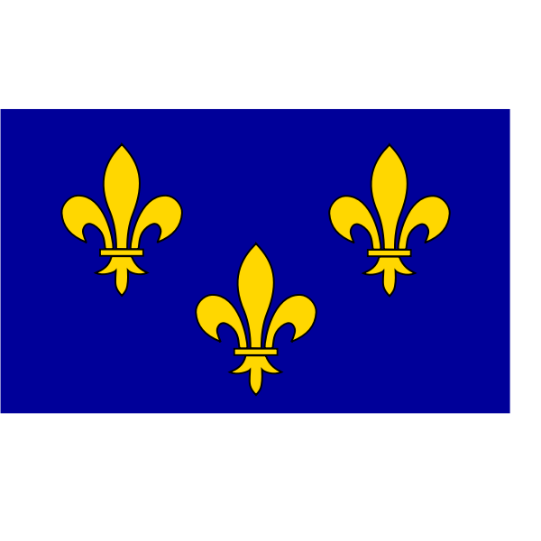 ÃŽle-de-France  region flag vector graphics