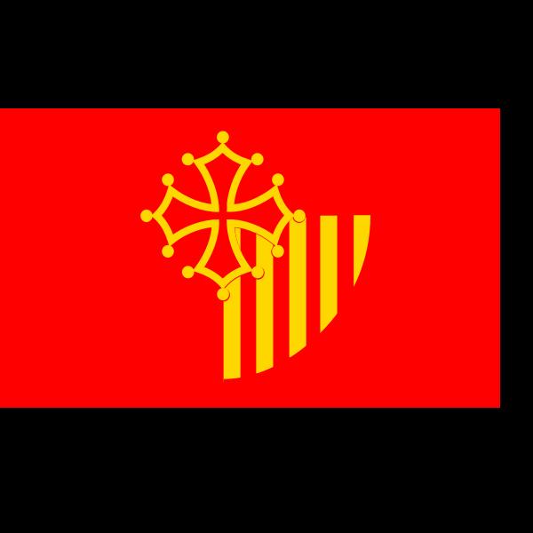 Languedoc region flag vector clip art