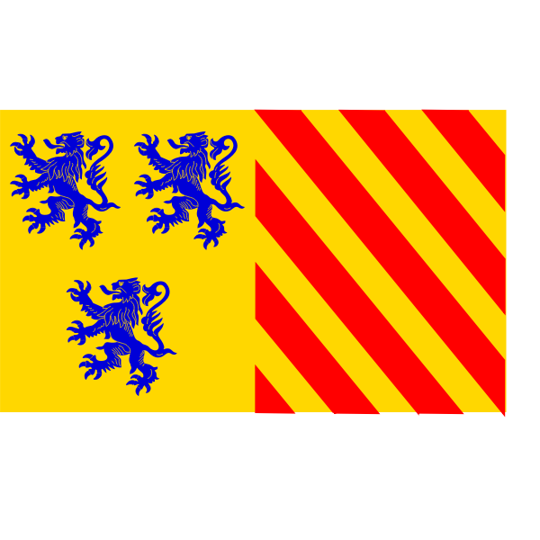 Alternate Limousin region flag vector image