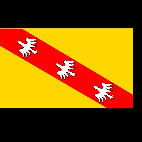 Lorraine region flag vector image