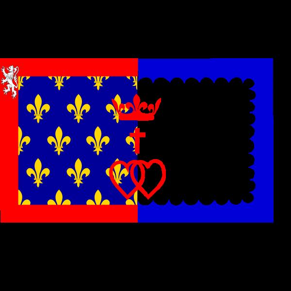 Pays de la Loire region flag vector image