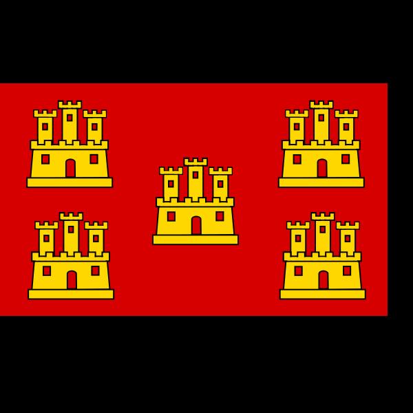 Poitou-Charentes region flag vector drawing