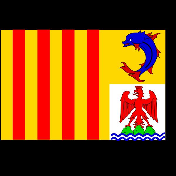 Provence-Alpes-Côte d'Azur region flag vector graphics