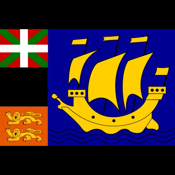 Saint Pierre and Miquelon region flag vector clip art