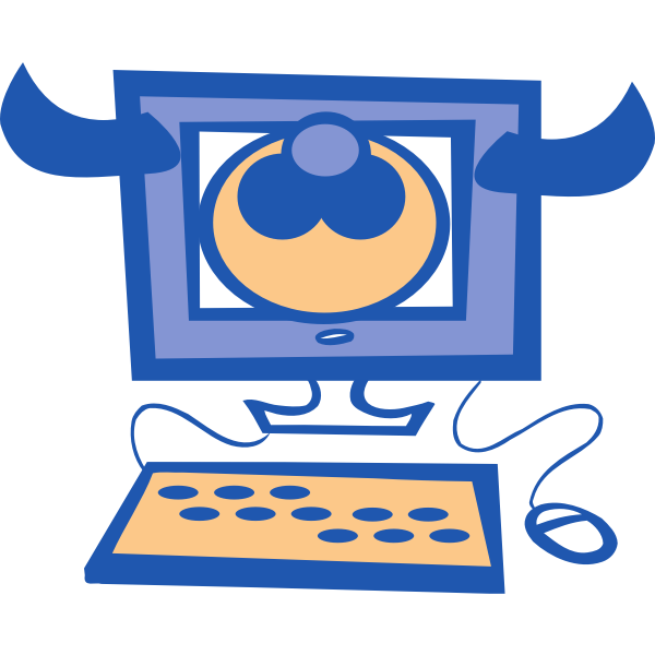 Cow computer vector illustration