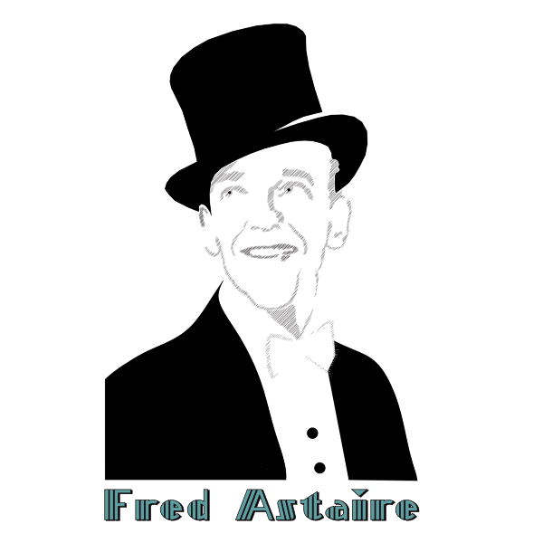 Vector drawing of portrait of Fred Astaire