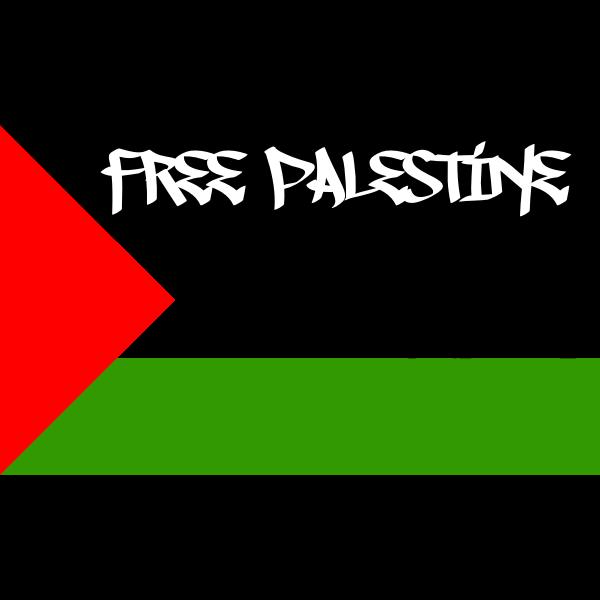 Free Palestine flag vector image