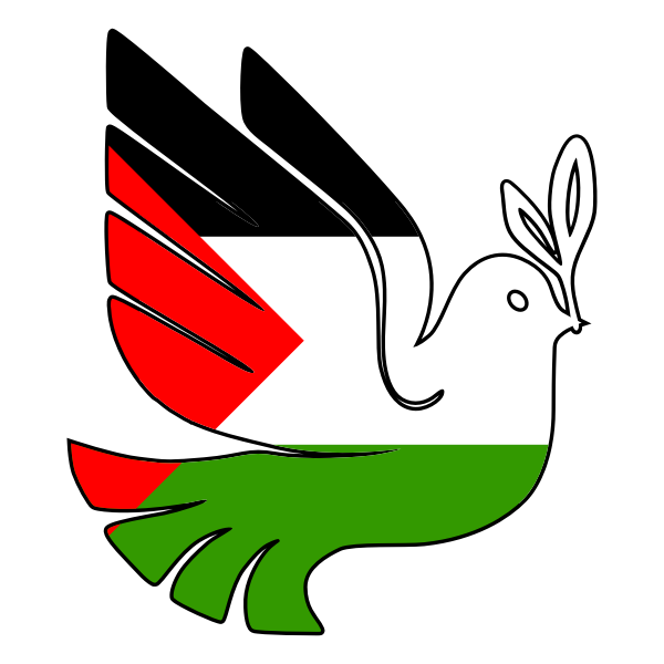Peace for Palestine vector image