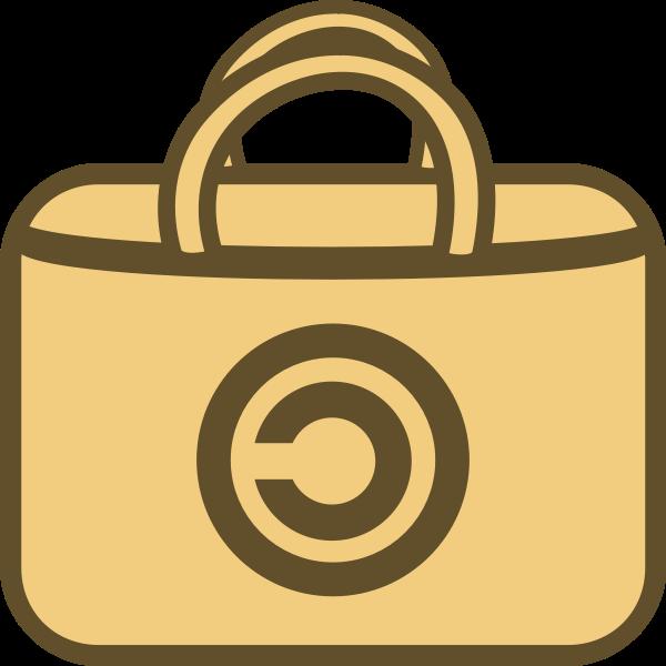 Simple shopping bag vector logo