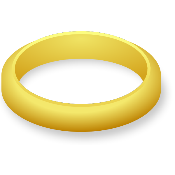 Simple wedding ring vector drawing