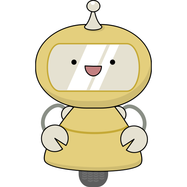 Friendly robot in yellow