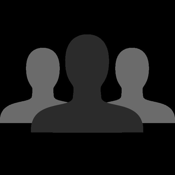 Grayscale friends vector icon