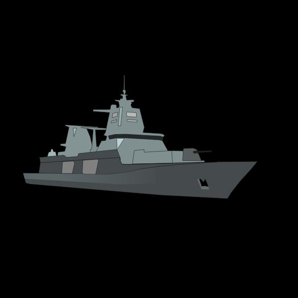 German Bundeswehr frigate vector image