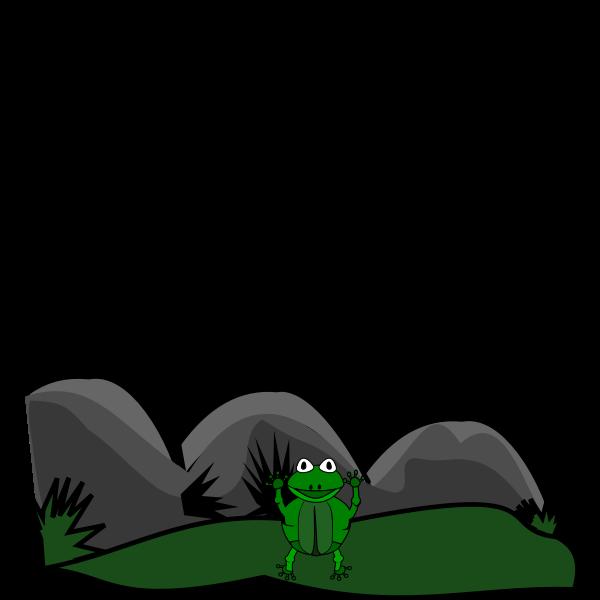 frog in landscape