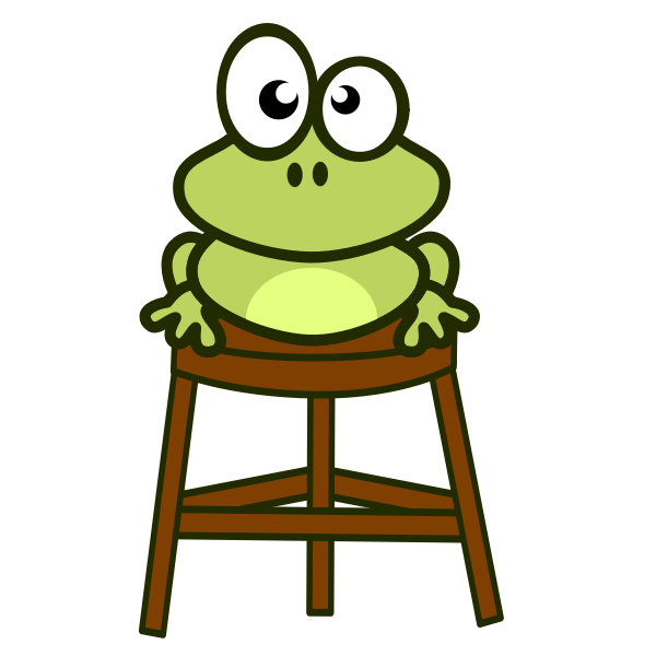 Frog on stool