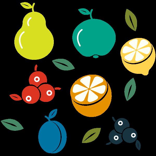 fruit pattern publicdomainvectors