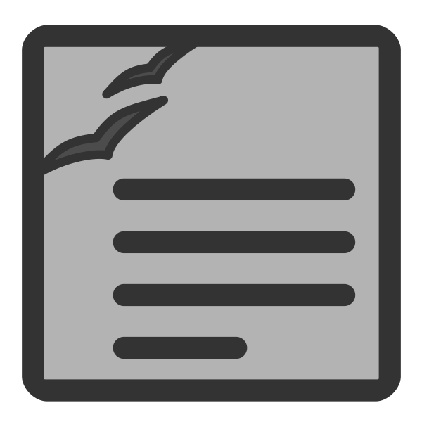 Vector graphics of gray computer wordprocessing document icon