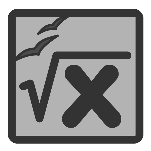 Vector illustration of gray PC calculation document icon