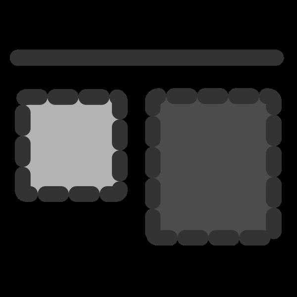 Align top icon
