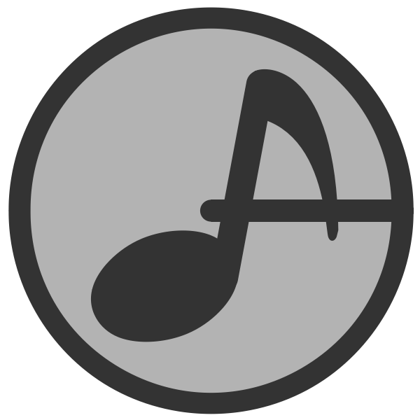 Musical note in a circle