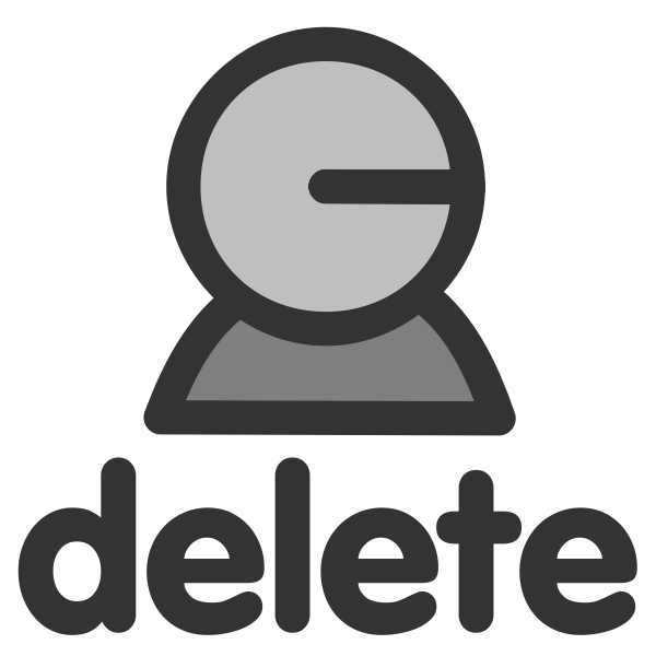Delete user icon