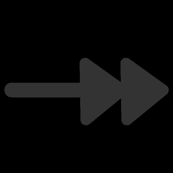 Line double arrow end