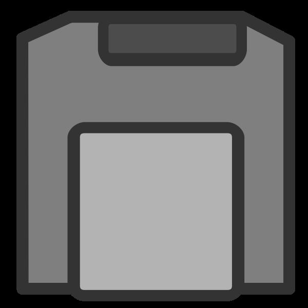 Gray disc or sim card