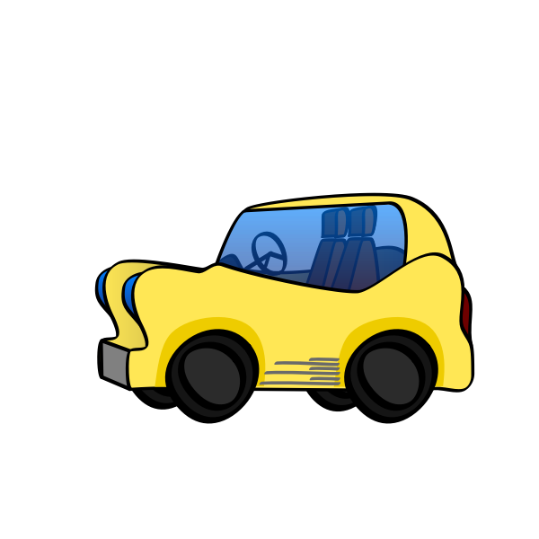 Cartoon sporty car vector image
