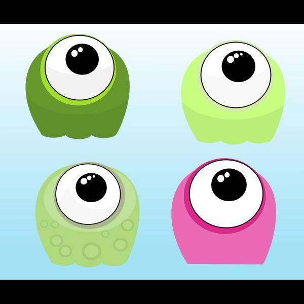 Cute funny aliens