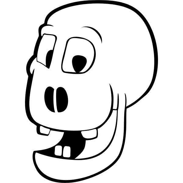 Four teethed skull vector graphics