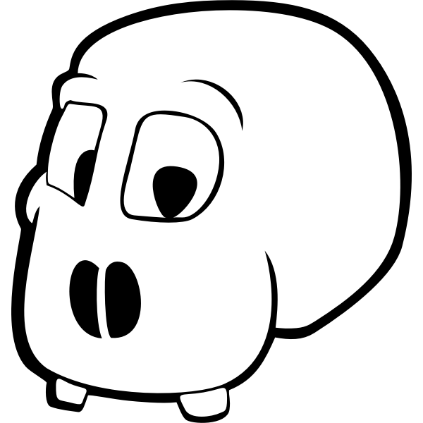 Vector clip art of skull without jawbones