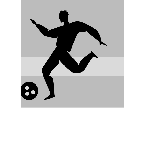 Vector silhouette illustration of soccer player