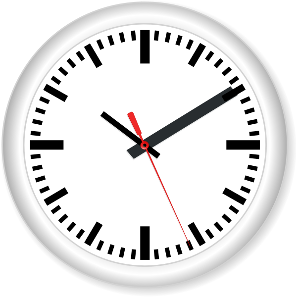 Modern wall clock vector image