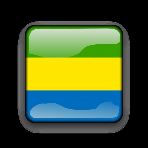 Country flag button for Gabon