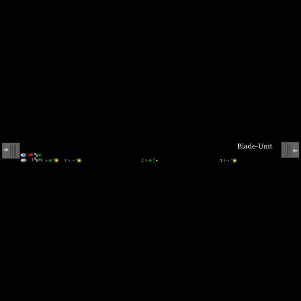HP Blade data center unit vector image