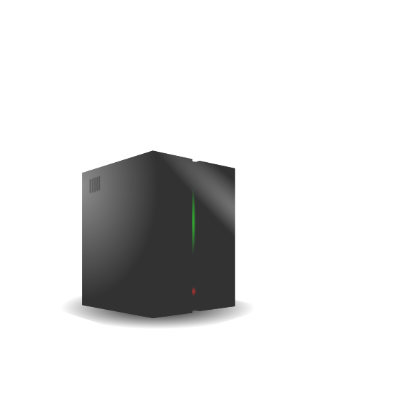 Mainframe computer vector image