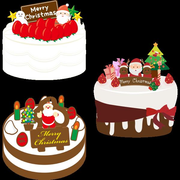 Three Christmas cakes