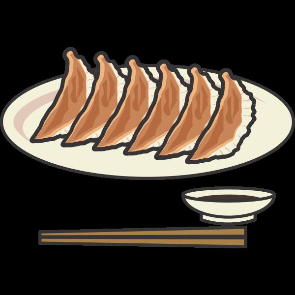 Japanese dish with chopsticks