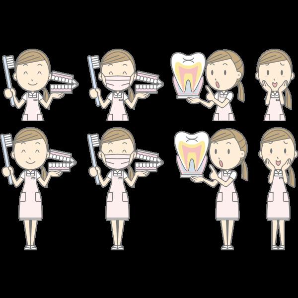 Dental hygiene instructor cartoon image