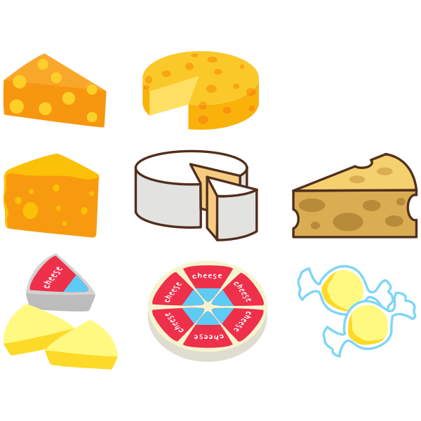 Different cheese sorts