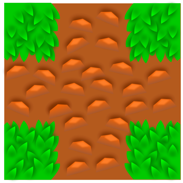 Grass tile pattern for computer game vector clip art
