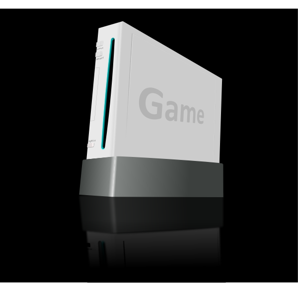 Game console vector illustration