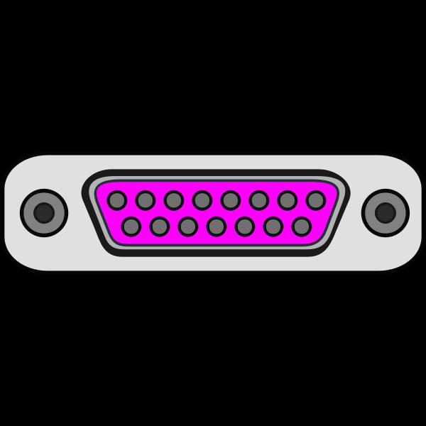 Game port plug vector image