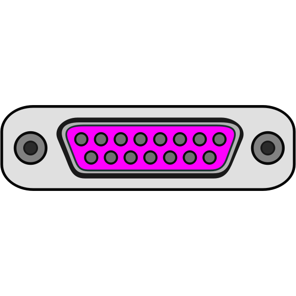 Game port plug vector image